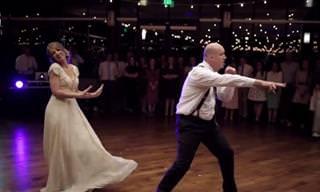 ריקוד חתונה מפתיע של אב ובתו הכלה