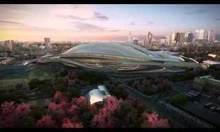 כך יראה האיצטדיון האולימפי ביפן!