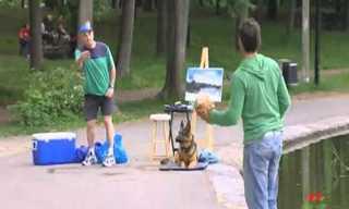הצייר, הכלב והכדור - מתיחה מצחיקה!