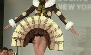 עיצובי אופנה ייחודיים העשויים כולם משוקולד