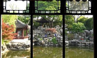 סרטון איכותי של הגנים הקסומים בעיר סוג'ואו - סין