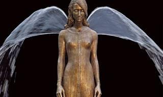 12 פסלי ברונזה שהופכים למזרקות מרהיבות בן רגע