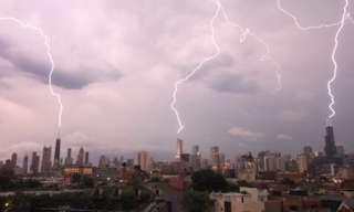 3 ברקים במקביל - מדהים!