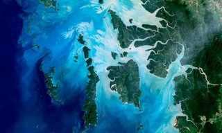 תמונות לוויין של מקומות מפורסמים