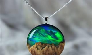 18 תכשיטים מיוחדים העשויים משילוב של עץ ושרף