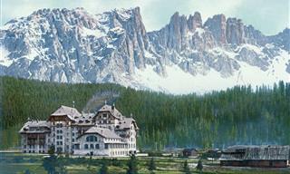 18 תמונות בצבע של הרי האלפים במחוז טירול בשנת 1890