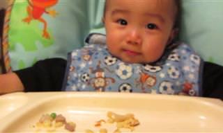 יש מה ללמוד ממנו - התינוק שאוכל במהירות הבזק