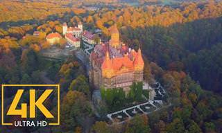סרטון שמציג את הטירות היפות ביותר בפולין