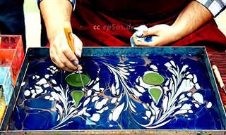 שיטת ציור מקורית במיוחד - אמנות בתוך מים!