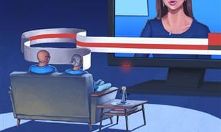 קריקטורות ואיורים ביקורתיים על העידן המודרני של המאייר דני גרסיה