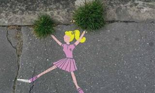 אומנות רחוב בתוספת קריצה משעשעת