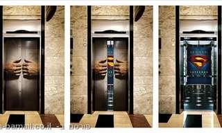 הרעיונאות עולה קומה: פרסומות מבריקות במעליות