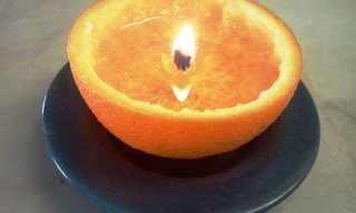 איך מכינים נר מתפוז?