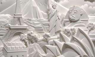 פסלים מנייר - מדהים!!