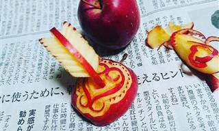 14 יצירות גילוף מרהיבות בפירות וירקות