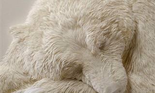 יצירות נייר מרהיבות של בעלי חיים בתלת מימד
