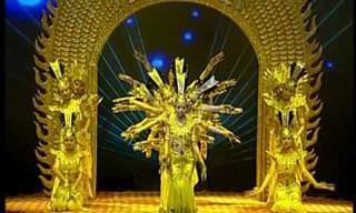 ביצוע מדהים לריקוד אלף הידיים הבודהיסטי
