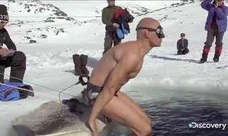 לשבור את שיא העולם בצלילה מתחת לקרח