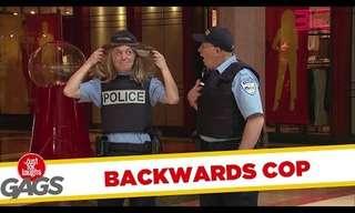 שוטרת הפוכה על כל הראש - מתיחה מצחיקה!
