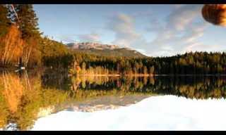 השתקפות מושלמת באגם!