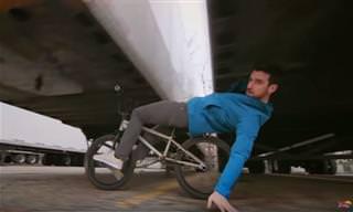 רוכב האופניים טים נול במקבץ תרגילי רכיבה מרשימים