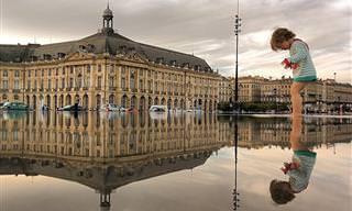 16 תמונות של נופים עירוניים המשתקפים בשלוליות מים