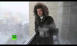חורף רוסי - זה מה שנקרא מזג אוויר קפוא!