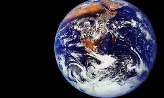 כדור הארץ בפרופורציה לחלל שסביבו