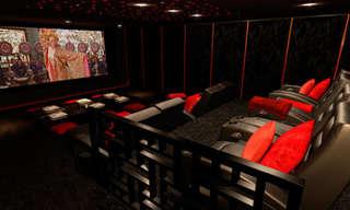 אולמות קולנוע ביתיים בעיצובים מדהימים!
