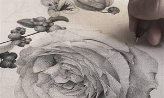 יצירות אמנות מרהיבות שעשויות בטכניקה של ציור בנקודות