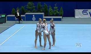 מתעמלות אוקראיניות בתרגיל מדהים