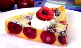 מתכון לקלפוטי דובדבנים - עוגה צרפתית נהדרת לימי הקיץ