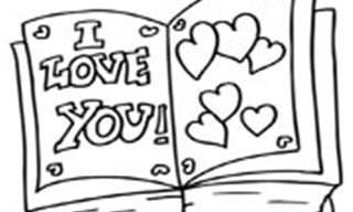 20 דפי צביעה לילדים על אהבה