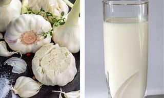 10 יתרונות של משקה חלב השום וכיצד תכינו אותו