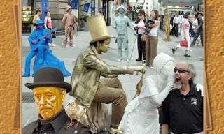 פסלים אנושיים - מייצגי רחוב מרהיבים