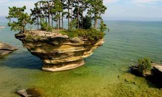 סלע הלפת באגם הורון