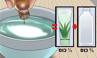 מדריך להכנת ג'ל אלכוהול לחיטוי הידיים