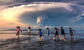 15 תמונות מדהימות של התפרצות הר געש בפיליפינים