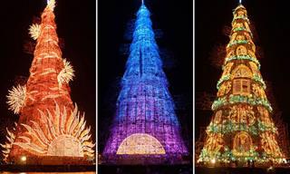 20 עצי חג מולד מיוחדים מסביב לעולם