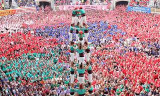 פירמידה אנושית - מסורת קטלאנית אדירה!