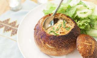 מתכון למרק בצל צרפתי בלחם