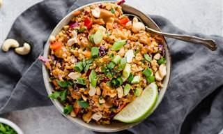 מתכון לסלט קינואה תאילנדי מעורר תיאבון עם אגוזי קשיו וירקות