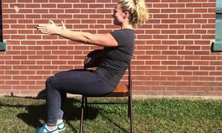 סדרת תרגילים מעולה לחיזוק בגוף ב-6 דקות מבלי לקום מהכיסא