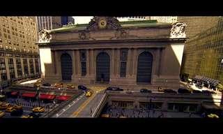 מסע צילום של טיסן מעל ניו יורק