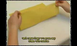 כיצד לעצב את מפיות שולחן הסדר?
