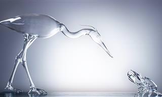 17 פסלי זכוכית מופלאים של האמן סימון קרסטני
