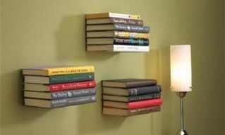 מדפי הספרים בעיצובים מיוחדים