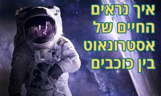 יום בחיי אסטרונאוט – איך האסטרונאוטים חיים בחלל?