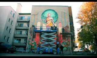 ציור קיר על בניין שלם!