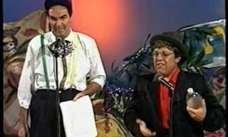צחי נוי ואלי גורנשטיין במערכון הבר מצווה